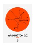 Washington D.C. Orange Subway Map Posters by  NaxArt