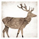 Brown Wood Deer Print