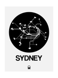 Sydney Black Subway Map Art by  NaxArt