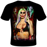 Daveed Benito- Miss Mischief Card T-shirts by Daveed Benito