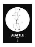 Seattle White Subway Map Posters by  NaxArt