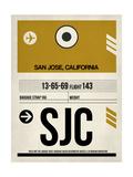 SJC San Jose Luggage Tag I Poster by  NaxArt