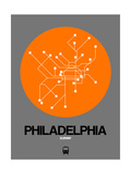 Philadelphia Orange Subway Map Poster by  NaxArt