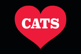 Heart (Love) Cats Plastic Sign by  Ephemera