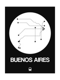Buenos Aires White Subway Map Posters by  NaxArt