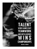 Teamwork and Intelligence Prints by  Sports Mania