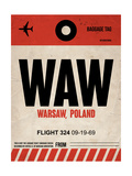 WAW Warsaw Luggage Tag I Posters by  NaxArt