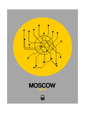 Moscow Yellow Subway Map Prints by  NaxArt