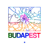 Budapest Watercolor Street Map Prints by  NaxArt