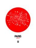 Paris Red Subway Map Posters par  NaxArt