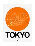 Tokyo Orange Subway Map Giclée-Premiumdruck von  NaxArt