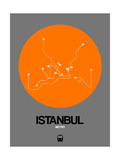 Istanbul Orange Subway Map Poster by  NaxArt