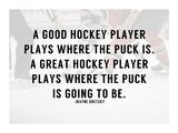 A Good Hockey Player Poster von  Sports Mania