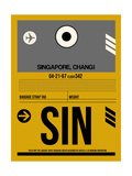 SIN Singapore Luggage Tag I Print by  NaxArt
