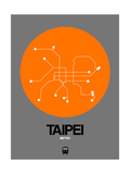 Taipei Orange Subway Map Poster by  NaxArt