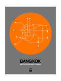 Bangkok Orange Subway Map Prints by  NaxArt