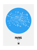 Paris Blue Subway Map Posters by  NaxArt