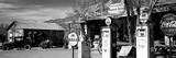 Store with a Gas Station on the Roadside, Route 66, Hackenberry, Arizona, USA Fotografisk tryk af Panoramic Images,