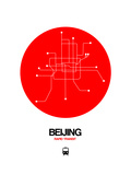 Beijing Red Subway Map Prints by  NaxArt