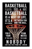 Basketball is a Way of Life Poster von  Sports Mania