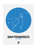 San Francisco Blue Subway Map Posters by  NaxArt