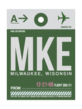 MKE Milwaukee Luggage Tag II Prints by  NaxArt