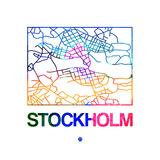 Stockholm Watercolor Street Map Plakater af NaxArt