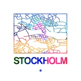 Stockholm Watercolor Street Map Prints by  NaxArt