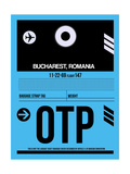 OTP Bucharest Luggage Tag II Prints by  NaxArt