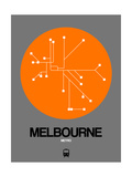 Melbourne Orange Subway Map Poster by  NaxArt