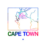 Cape Town Watercolor Street Map Plakater af NaxArt