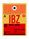 IBZ Ibiza Luggage Tag I Posters by  NaxArt