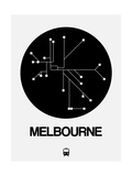 Melbourne Black Subway Map Print by  NaxArt