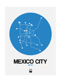 Mexico City Blue Subway Map Prints by  NaxArt