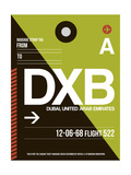 DXB Dubai Luggage Tag II Prints by  NaxArt