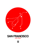 San Francisco Red Subway Map Posters by  NaxArt