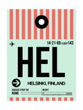 HEL Helsinki Luggage Tag I Print by  NaxArt