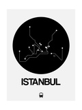 Istanbul Black Subway Map Print by  NaxArt