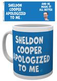 The Big Bang Theory - Sheldon Cooper Apologised Mug Mug