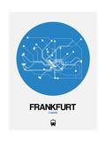 Frankfurt Blue Subway Map Prints by  NaxArt