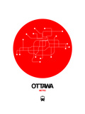 Ottawa Red Subway Map Posters by  NaxArt