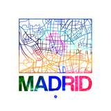 Madrid Watercolor Street Map Premium Giclee Print by  NaxArt