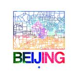 Beijing Watercolor Street Map Premium Giclee Print by  NaxArt
