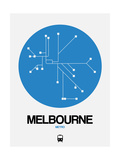 Melbourne Blue Subway Map Prints by  NaxArt