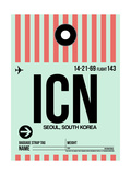 ICN Seoul Luggage Tag I Posters by  NaxArt
