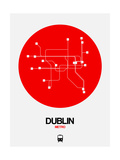 Dublin Red Subway Map Prints by  NaxArt