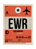 EWR Newark Luggage Tag I Posters by  NaxArt