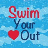 Swim Your Heart Out - Girly Poster von  Sports Mania