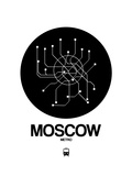 Moscow Black Subway Map Art by  NaxArt