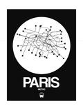 Paris White Subway Map Posters by  NaxArt